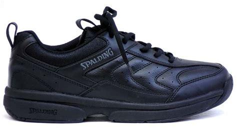spalding tennis black shoe