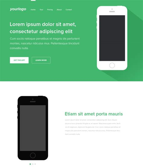 mobile landing page templates 35 best free landing page psd templates designmaz