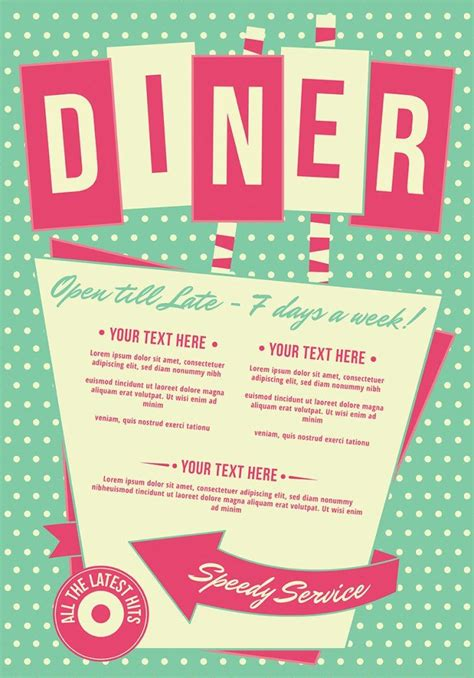 50s diner menu template 1000 ideas about vintage diner on diners