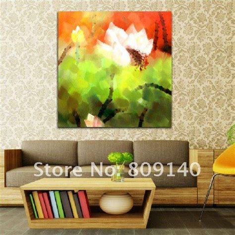 home interior design artistic quality poesia decorative stretched oil painting canvas abstract chinese flower