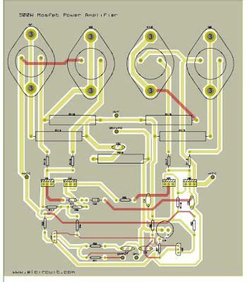 mosfet stereo amplifier board circuit diagram images