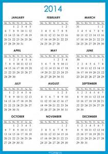 2014 12 Month Calendar Template by 5 Best Images Of Free Printable Annual Calendar 2014
