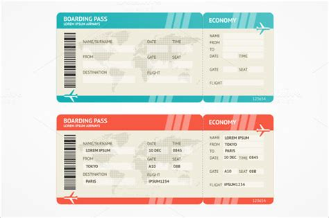 boarding pass template 9 download documents in pdf