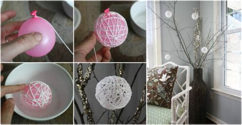 How To Make Home Decor by How To Make Diy Glittery String Snowballs How To