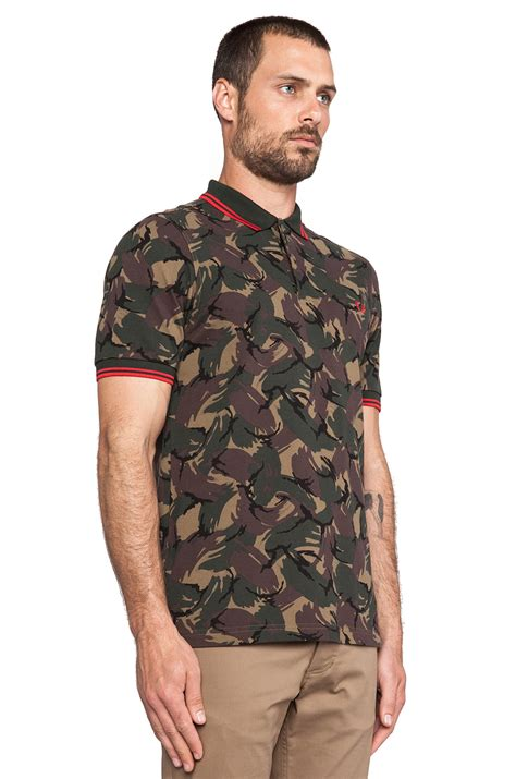 Fred Perry Shirt Collections 5 fred perry margate collection camo shirt in brown for lyst