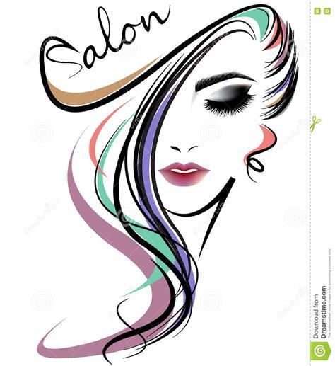woman hair style genorator free hair salon logo icon cartoon vector cartoondealer com
