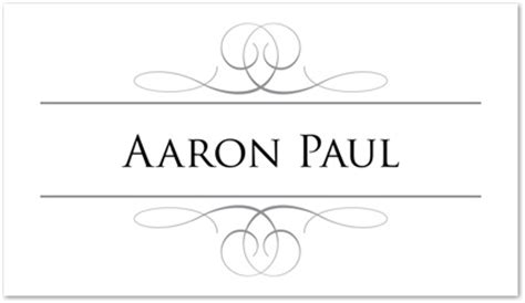 Avery Place Card Holder Template by Grey Overlapping Calligraphy Folded Place Card Downloadble