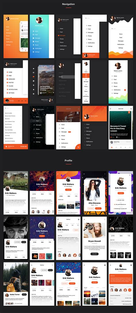 mobile ui themes mocha mobile ui kit by hoangpts themeforest
