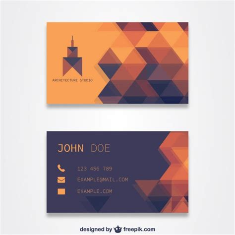 card template freepik orange business card template vector free