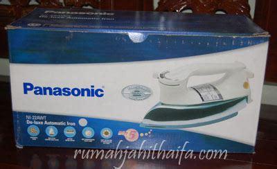 Setrika Merk Panasonic yang berat keker dan tebel itu ternyata merknya panasonic