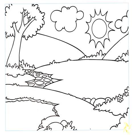 dibujos para colorear paisajes quinto grado dibujo de ambientes naturales