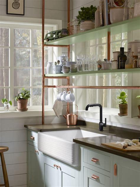 copper kitchen cabinets copper cottage kitchen kohler ideas