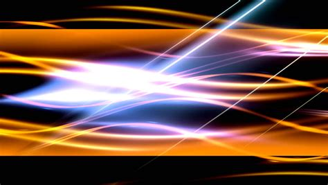 relaxing blue lava l on black background middle stock video abstract yellow orange plasma waves looping animated