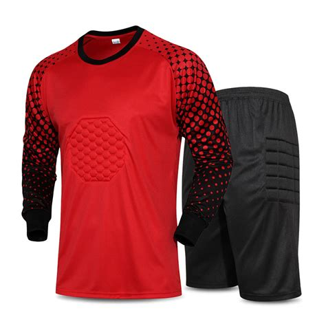 goalkeeper jersey design your own 2016 men soccer goalkeeper uniform foam padded jersey