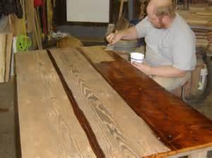 wood desk tops reclaimed wood desk top diy