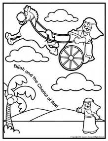 Elijah Chariot Of Fire Coloring Page  Free Pages On Masivy sketch template