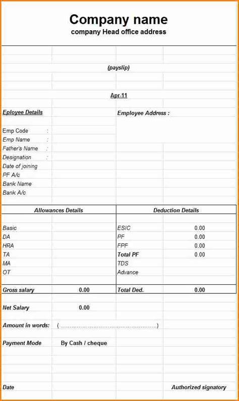 australian payslip template excel simple salary slip
