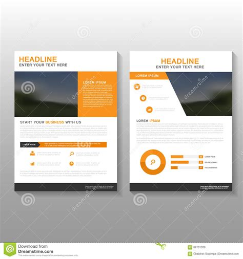design proposal abstract orange business abstract layout royalty free stock photo