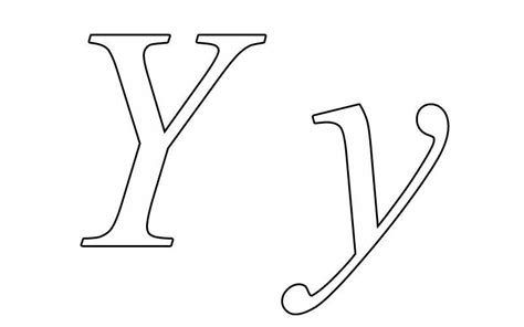 printable coloring pages letter y letter y coloring printable lower case y alphabet print
