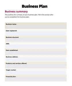 Bussiness Template by Simple Business Plan Template 9 Documents In Pdf Word Psd