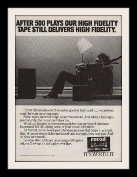 maxell cassette ad 1983 maxell audio cassette ad stereo speakers