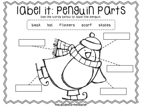 label penguin make preschool printables