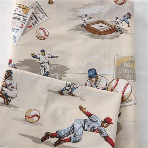 Vintage Baseball Bedding by World Series Sheet Set