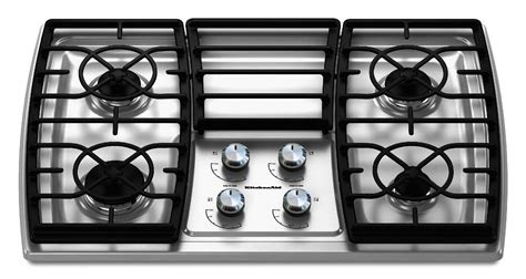 30 Cooktop Gas Kitchenaid Kgck306vss 30 Quot Gas Cooktop Sears Outlet