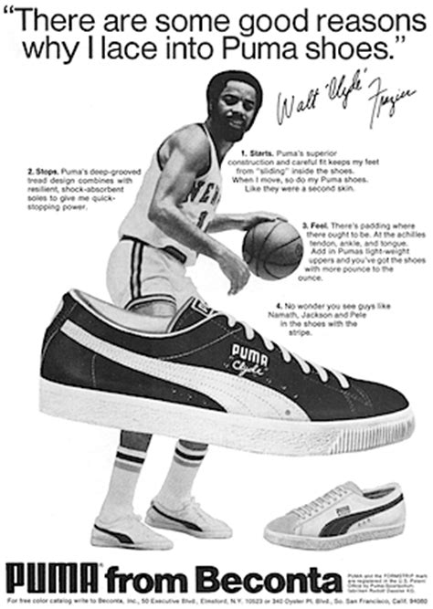 """Walt 'Clyde' Frazier and Puma Clyde basket shoes """"There"""