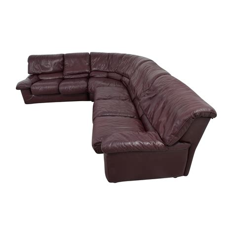roche bobois sectional sofa 89 off roche bobois roche bobois brown leather
