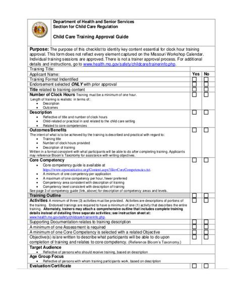 21 Free Training Evaluation Form Child Care Program Evaluation Template