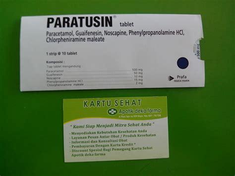 Paratusin Tablet Isi 10 Jual Paratusin Tablet Obat Batuk Flu Demam Bersin