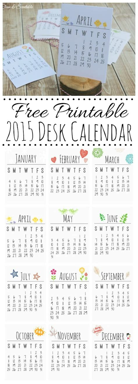 Free Printable Desk Planner 2015 | get organized for free chic life hacks