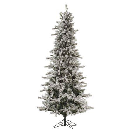 8 ft flocked slim christmas tree vickerman 7 5 ft flocked slim fir unlit tree walmart