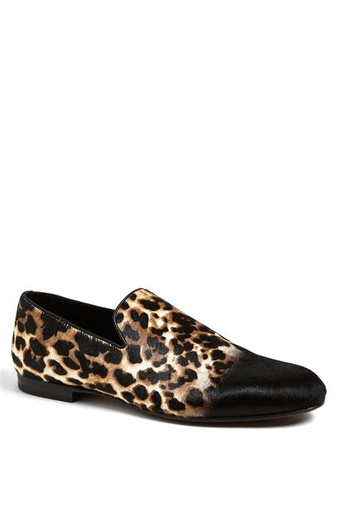 leopard loafers for jimmy choo sloane leopard print loafer in animal for