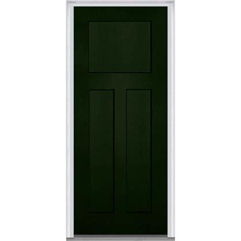 3 Panel Exterior Door Mmi Door 36 In X 80 In Right Inswing Craftsman 3 Panel Shaker Classic Painted Fiberglass