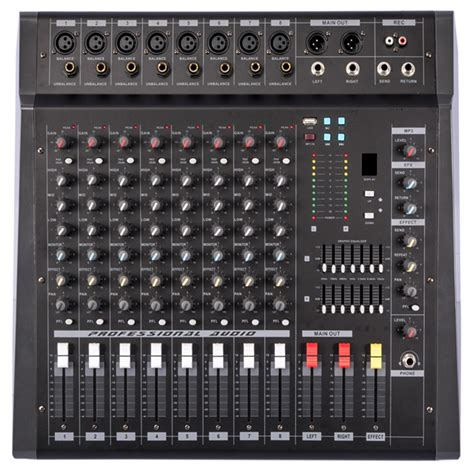 Power Mixer Audio Seven 2016 new usb echo sound effects dj mixer stage home