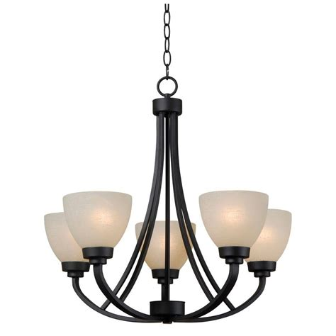 Kenroy Chandelier Dynasty 5 Light Burnished Bronze Chandelier 93195bbz The