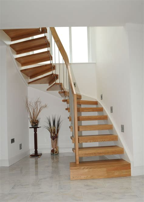 stair case open timber stair warsash southton timber stair