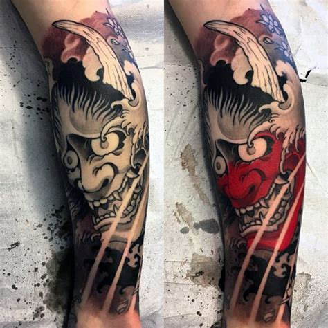 hannya mask tattoo leg 100 hannya mask tattoo designs for men japanese ink ideas