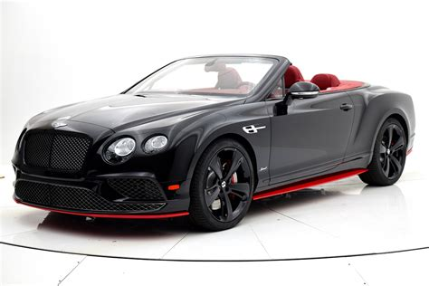bentley black convertible 2017 bentley continental gt speed convertible black edition