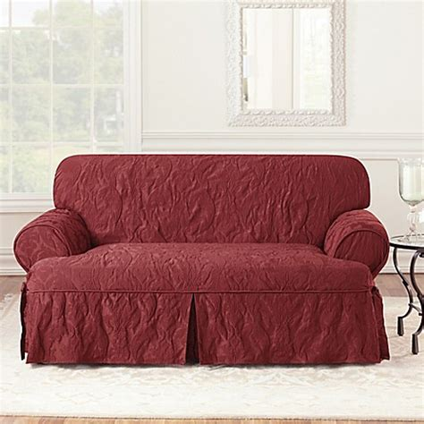 sure fit matelasse damask sofa slipcover sure fit 174 matelasse damask 1 piece t cushion loveseat