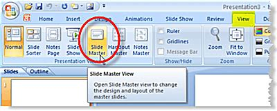 slide layout master definition inserting a degree symbol on a powerpoint slide