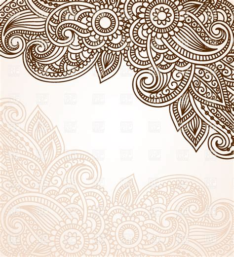 henna pattern vector mehndi style background with floral ornament 28980