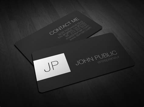 Business Card Monogram Template by Modern Rounded Corner Business Cards J32 Design