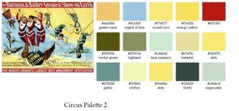 circus colors vintage circus colors palette search colour