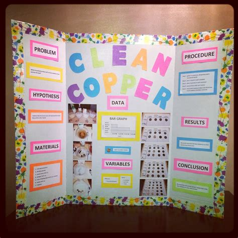 Science Fair Project Clean Copper With Pennies Science Science Fair Presentation Ideas