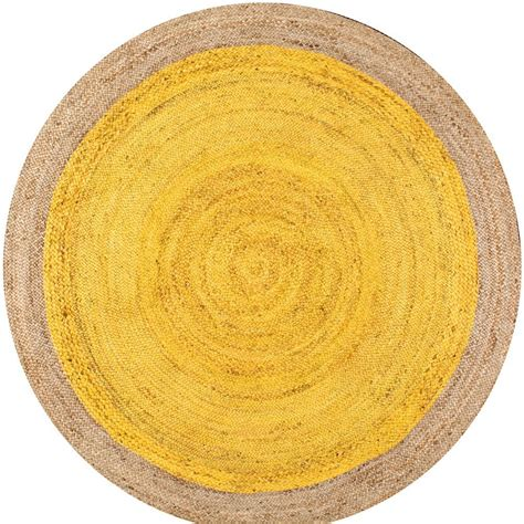 6 ft rugs nuloom eleonora yellow 6 ft x 6 ft area rug