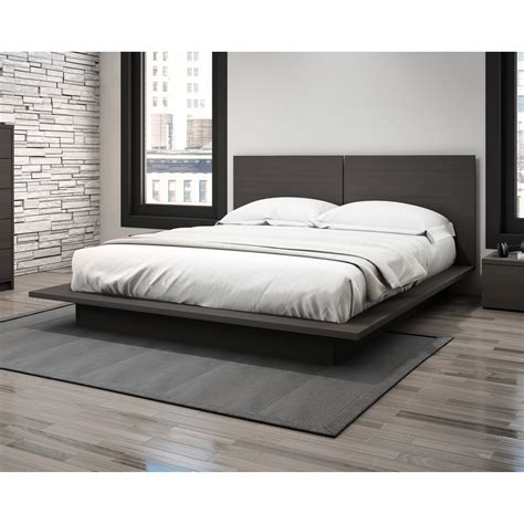 queen size platform bed with headboard bedroom cool furniture design with platform bed frame also