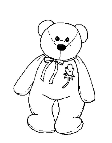 teddy bear with rose coloring page coloring activity pages beanie baby bear with rose